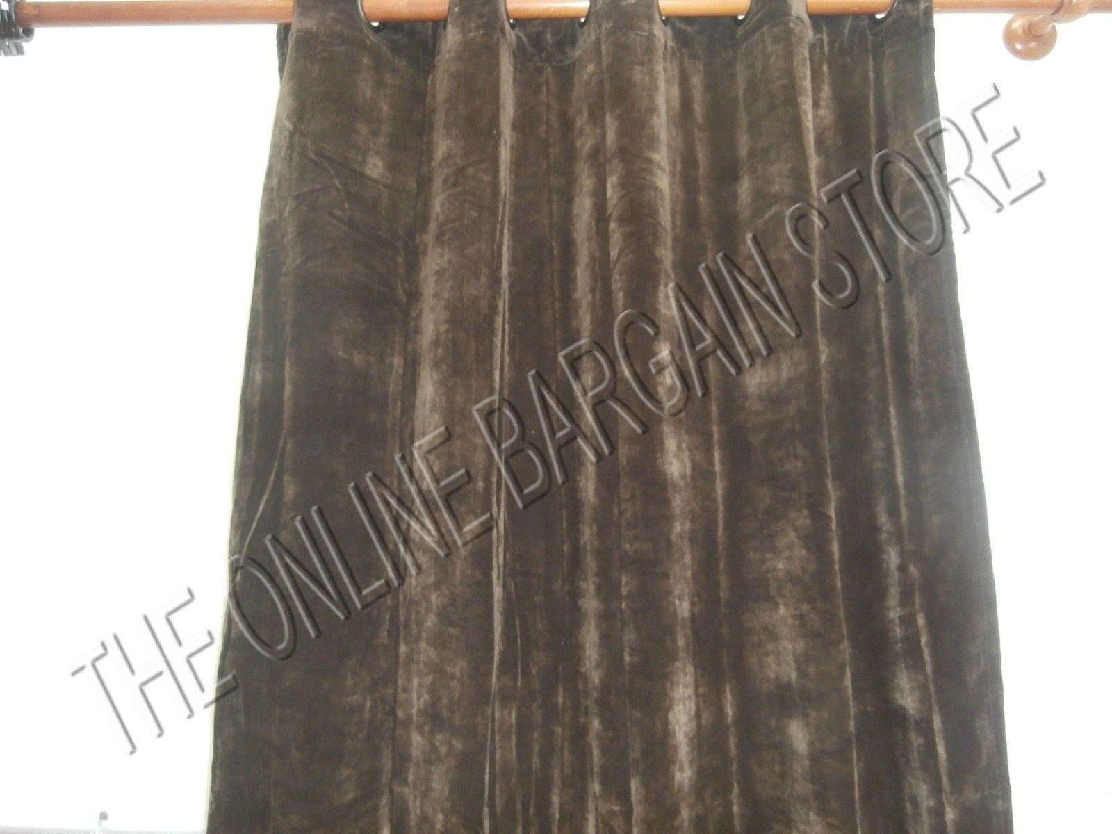 Ballard Designs esencial Ojal Terciopelo cortinas, paneles de cortinas Chocolate 54x96