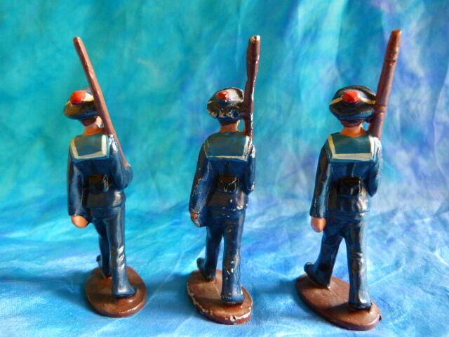 QUIRALU. Lot 1 de3 figurines de marins au défilé Q41 en aluminium - ref Q41 défilé e93aa1