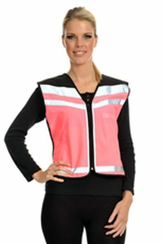 EQUISAFETY AIR WAISTCOAT PLEASE PASS WIDE & SLOWLY - MEDIUM PINK  - EQY0635