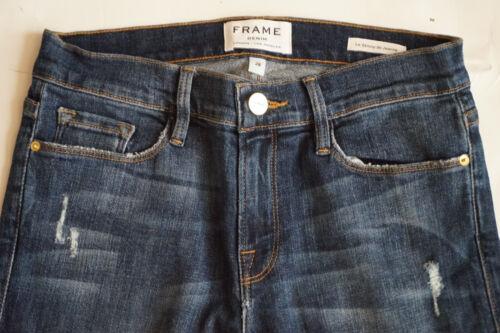Nouveau Sans Original étiquettes Cadre Denim grand Street lsjre 133 Bleu Skinny Jeans pour Femme Taille 28