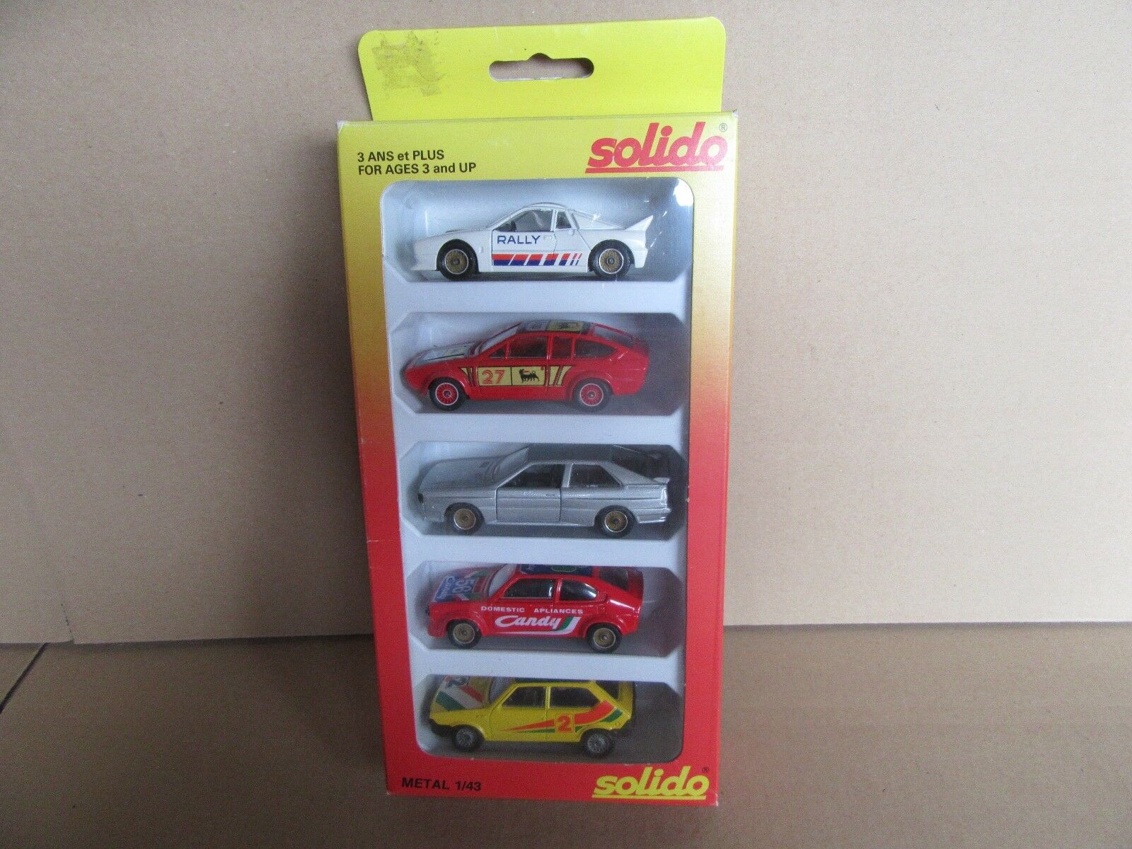 85G vintage Solido 1 43 Satz 5 Autos Racing