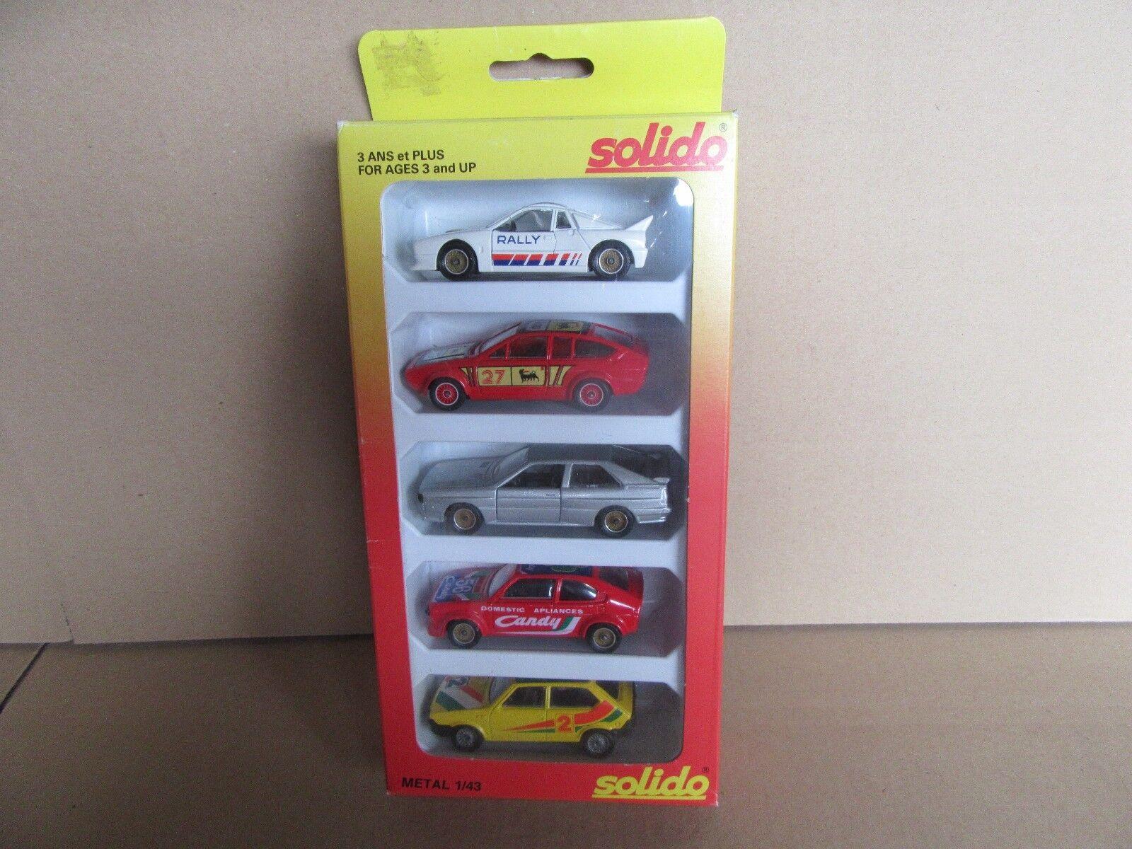 85G Vintage Solido 1 43 Set de 5 Voitures Racing