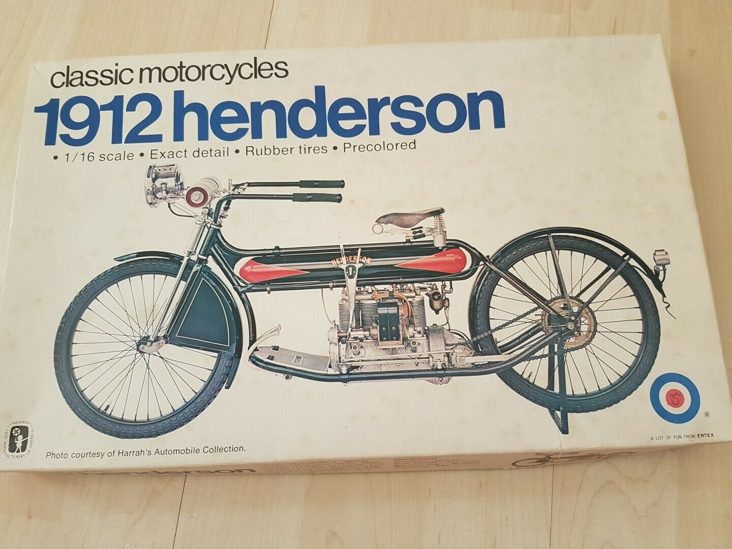 1912 Henderson 1 16 Modell Motorcycle not Indian Harly Excelsior Top Selten