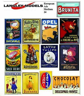 Street ads signs Sml Paper Copies old Enamel Signs N Scale SMF20n Langley