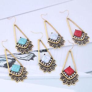 Vintage-Turquoise-Alloy-Drop-Dangle-Bohemian-Hook-Earrings-Women-Wedding-Jewelry