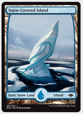 Snow-covered island 251//254 land common foil NM