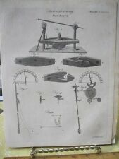 VIntage Print,MACHINE FOR DRAWING SHIP BOLTS,Encyc Britannica,1790-1820,Pl 483