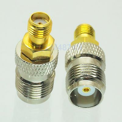 1pce Adapter TNC jack female to SMA female RF connector straight F/F