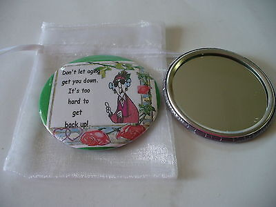 Pocket Purse Mirror Maxine