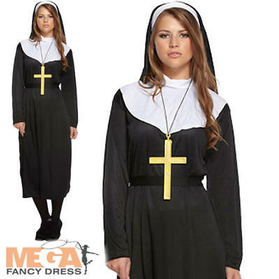 Nun Fancy Dress Ladies Religious Saints and Sinners Womens Adult Costume Outfit