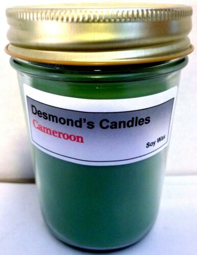 Green Tea Desmond/'s Candles Homemade Scented Cameroon Soy Jar Candle
