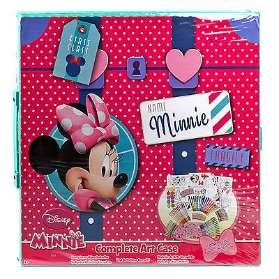 Disney 200 Pc Mega Art & Craft Set Pen Pencil Colouring Sticker Markers Case Toy
