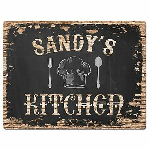 PP2152 SANDY/'S KITCHEN Plate Chic Sign Home Kitchen Decor Birthday Gift