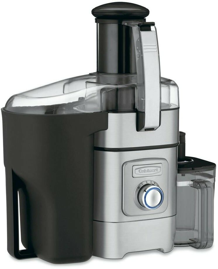 Juice Extractor 8 oz. 5-Speed Control Dial Stainless Steel Dishwasher Safe Parts
