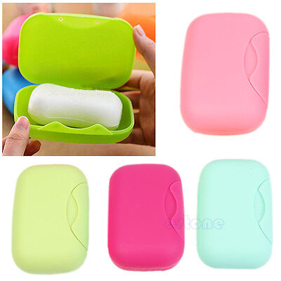 Portable Travel Soap Dish Plate Shower Home Bathroom Outdoor Container Soap Box