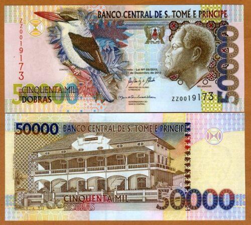 St Thomas & Prince, 50000 (50,000) Dobras, 2013, P-68-New, UNC > ZZ REPLACEMENT