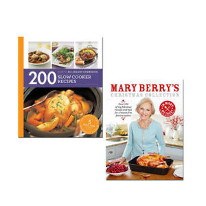 Hamlyn-200-Slow-Cooker-Recipes-and-Mary-Berry-039-s-Christmas-2-Books-Collection-Set