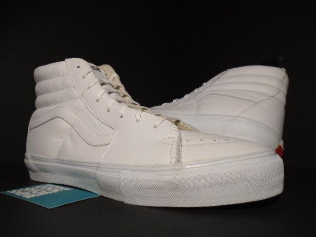 392719b5069a69 VANS Vault Sk8 Hi LX White Leather Size 10.5 for sale online