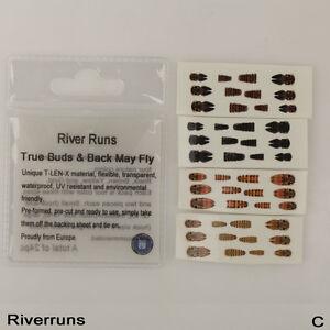 Riverruns-Realistic-Flies-24pcs-Bag-May-Nymph-Flies-Bud-Back-4-Color-3-Size-Fly