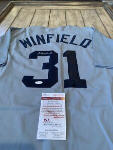 Dave-Winfield-Autographed-Signed-Jersey-JSA-COA-New-York-Yankees