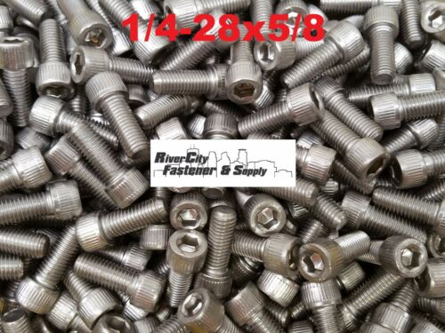 1//4-28x5//8 Socket Allen Head Cap Screw Stainless Steel Fine Thread 1//4x5//8 10