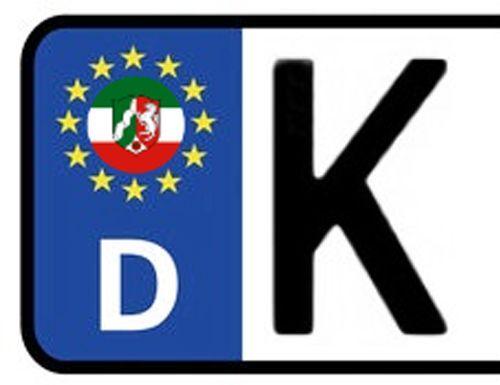 2x Kennzeichen Aufkleber Nummernschild NORDRHEIN WESTFALEN Sticker