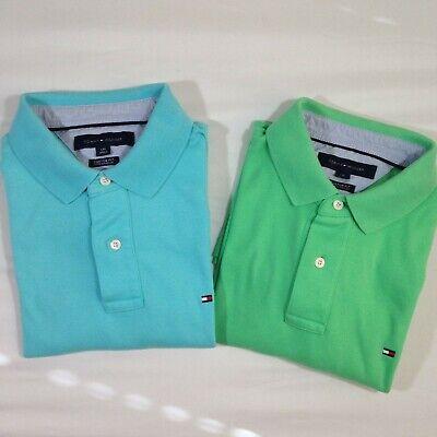 Tommy Hilfiger Men/'s Mint Green Classic Fit Mesh Short Sleeve Polo Shirt