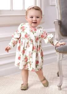 8d45dd97d Mud Pie Bella Baby Pink Floral Ruffle Dress & Bloomer Set 0-3M 3-6M ...