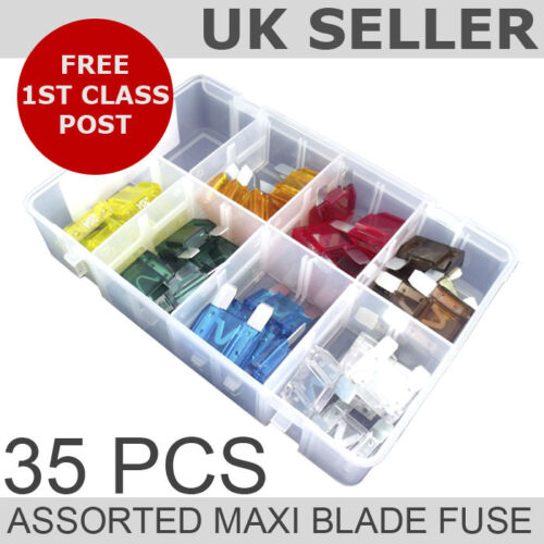 Assorted Maxi Blade Fuse *QTY 35*