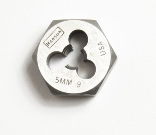 0.9 Hex Threading DIE Made in U.S.A Irwin Hanson 5mm