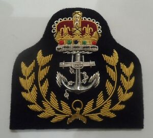 Royal-Navy-Warrant-Officers-Cap-Badge-RN-Hat-Military-Embroidered-Army