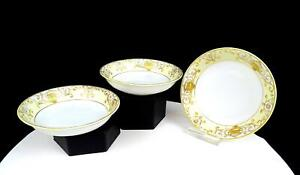 NORITAKE-JAPAN-175-GOLD-FLOWERS-amp-SCROLL-WORK-3-PC-5-1-4-034-DESSERT-BOWLS-1906