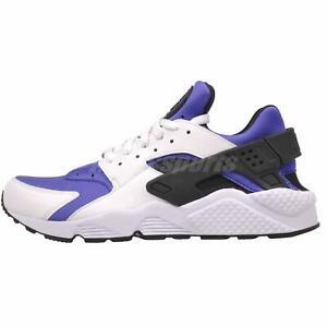 Men's and Women's Nike Air Huarache Run Big Net White Running Shoes 318429 111