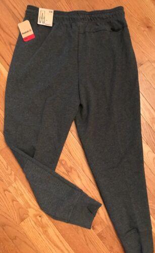 Reebok Men Pant CHARCOAL GRAY Small Medium Large /& XL NO TIMEOUTS Jogger $70.