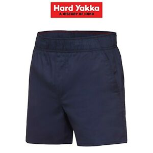 Mens-Hard-Yakka-Elastic-Waist-Drill-Shorts-Cotton-Work-Comfy-Everyday-Y05545