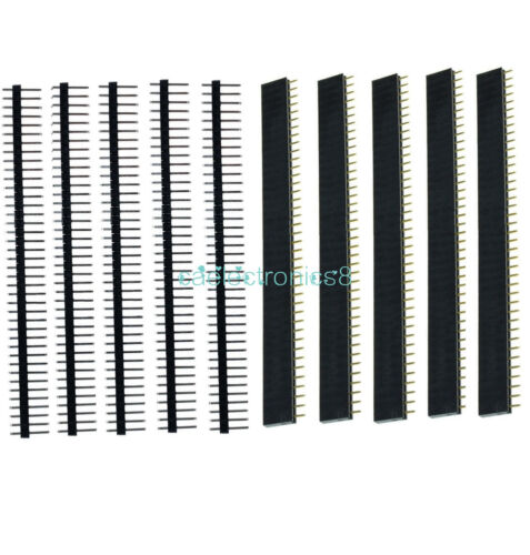 10PC Female/&Male 40pin 2.54mm Header Socket Single Row Strip PCB Connector CA