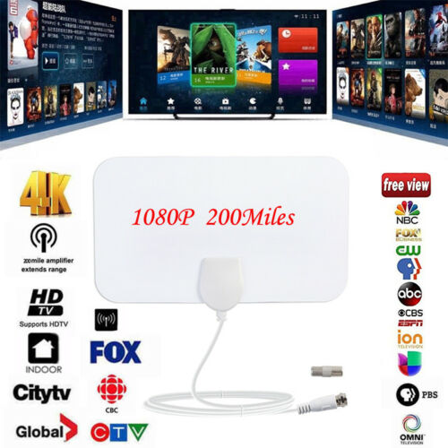 A51D Thin Flat Antenna HD High TV HDTV 1080P Sky Link Skylink Cable Style 50mile