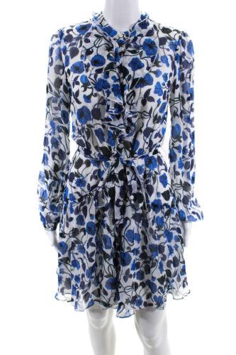 Saloni  Womens Silk Layered Floral Print Shirt Dre