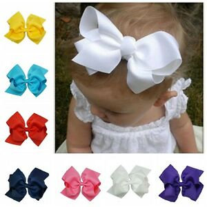 6-INCH-BABY-BOWS-BOUTIQUE-HAIR-CLIP-ALLIGATOR-CLIPS-GROSGRAIN-RIBBON-BOW-GIRL-UK