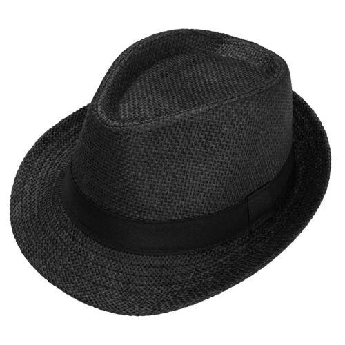 Unisex Men Women Fedora Gangster Cap Summer Beach Sun Straw Panama Hat Sunhat US