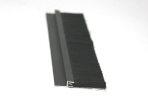 1 m Streifenbürste 45 mm Alu Profil schwarz EXKLUSIV Bürstendichtung Türbürste