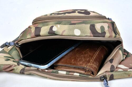 Rave Music Festival Tactical Bum Bag Camo Fanny Pack Waist Side Crossbody Bag