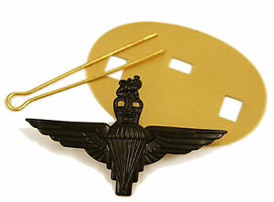 NEW-Official-Parachute-Regiment-Black-Cap-Badge-PARA-Airborne-Pathfinder