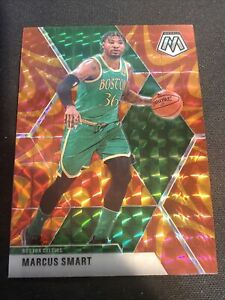 2019-20 Panini Mosaic Marcus Smart Orange Reactive Prizm SP #109 Boston Celtics