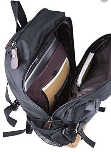 "BLACK ZIGELS BACKPACK BUSINESS TRAVEL STUDENT UP TO 17/"" LAPTOP"