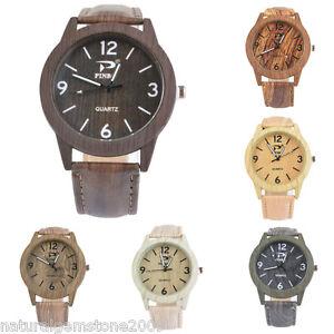 1PC-Women-Imitation-Wood-grain-Leather-Band-Lover-Watch-Wristwatch-Gift
