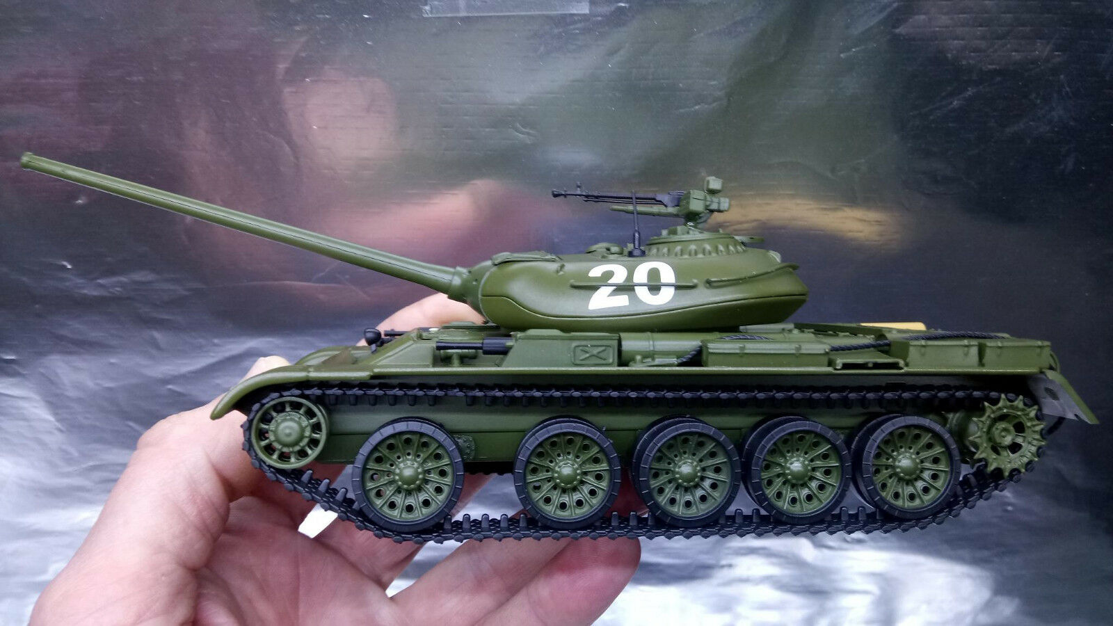 Tanque de Batalla Herpa Militar 83SSM3021 T-54-1 - Construcción de Metal Escala 143