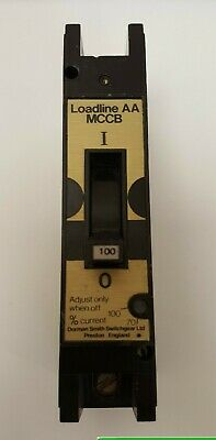 DORMAN SMITH LOADLINE TYPE AA 100A 100 AMP ADJUSTABLE MCCB  LLBAA100