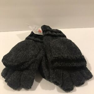 Men/'s Thinsulate 3M Thick Wool Knitted Half Mitten Suede Palm Gloves