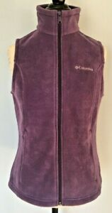 Columbia-Women-039-s-Size-Small-Purple-Mount-Cannon-Full-Zip-Up-Fleece-Vest-NWT-45